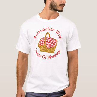 PERSONALIZED Picnic Basket Graphic T-Shirt