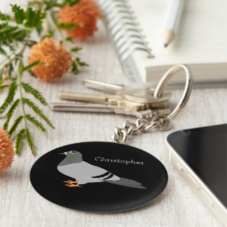 Personalized Pigeon Design Keychain