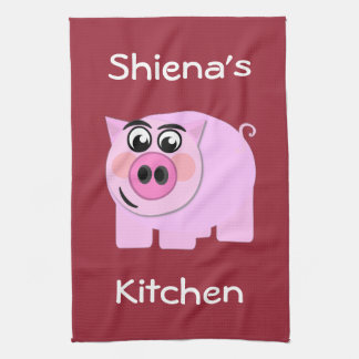 Personalized Piggy Kitchen Towel