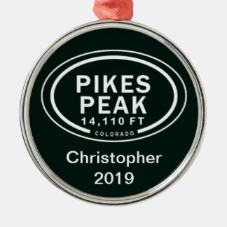 Personalized Pikes Peak CO Mountain Ornament
