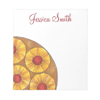 Personalized Pineapple Upside Down Cake Notepad