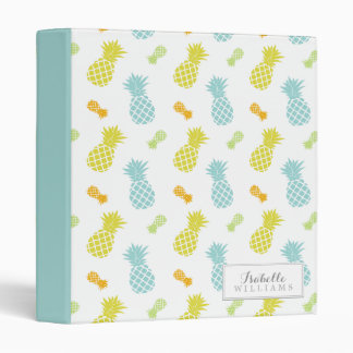 Personalized Pineapples Pattern 3 Ring Binders