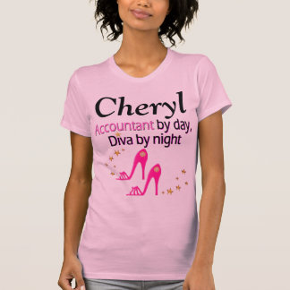 PERSONALIZED PINK ACCOUNTANT SHOE LOVER T SHIRT