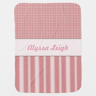 Personalized Pink Baby Nursery Baby Blanket