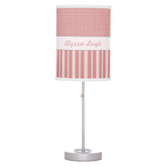 Personalized Pink Baby Nursery Lamp