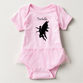 Personalized Pink Baby Tutu with Fairy Godmother Baby Bodysuit