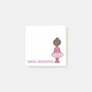 Personalized Pink Ballerina Ballet Dance Teacher Post-it Notes