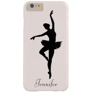 Personalized Pink Ballerina Dance Silhouette Barely There iPhone 6 Plus Case