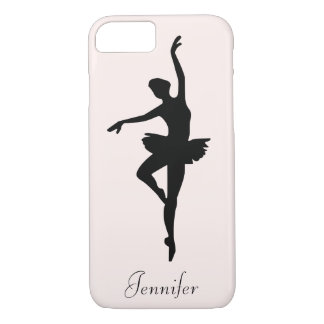 Personalized Pink Ballerina Dance Silhouette iPhone 8/7 Case