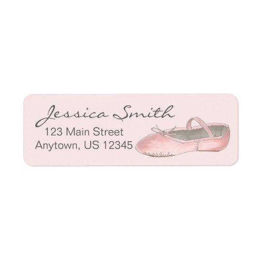 Personalized Pink Ballet Slipper Ballerina Dance