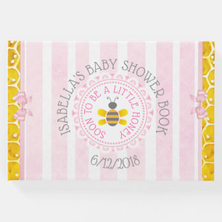 Personalized Pink bee Bumblebee Baby Shower Book