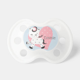 Personalized Pink Blue White Pony Stars Hearts Pacifier