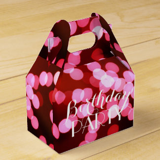 Personalized  Pink Bokeh Sparkle Lights Favor Box