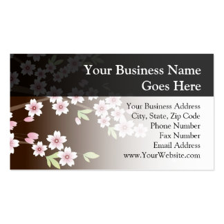 Personalized Pink/Brown Dogwood Blossom Business Card Templates