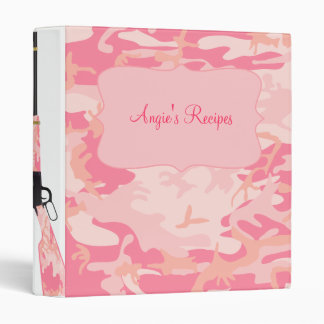Personalized Pink Camo Rifle Recipe Binder