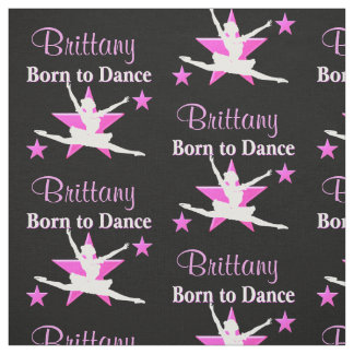 PERSONALIZED PINK DANCING STAR FABRIC