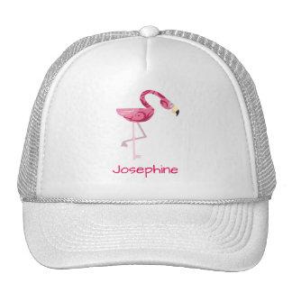 Personalized Pink Flamingo Bird Trucker Hat