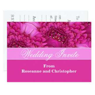 Personalized Pink Floral Wedding Invite