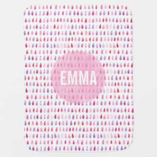 Personalized Pink Girl Baby Blanket