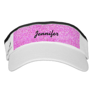 PERSONALIZED Pink GIRLY GLITTER WITH NAME Visor