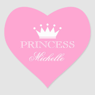 Personalized pink heart baby shower stickers