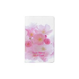 Personalized Pink Japanese Cherry Blossom Pocket Moleskine Notebook