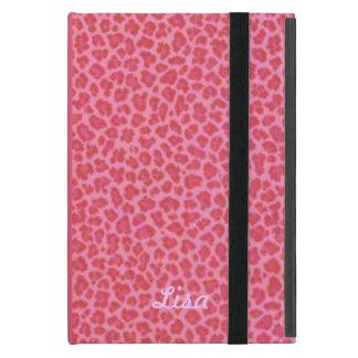 Personalized Pink Leopard Print iPad Mini Case
