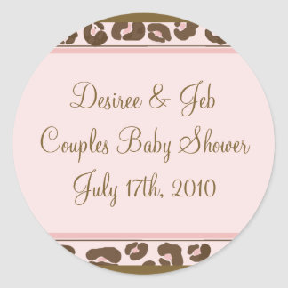 Personalized Pink Leopard Sticker