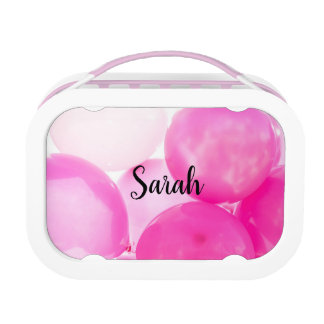Personalized pink lunch box