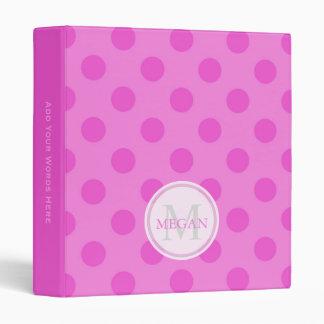 Personalized: Pink Polka Dot Binder