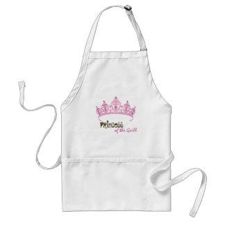 Personalized Pink Princess Crown Tiara Jewel Apron