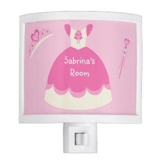 Personalized Pink Princess Dress Night Light