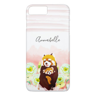 Personalized Pink Red Panda iPhone 8/7 Plus Case