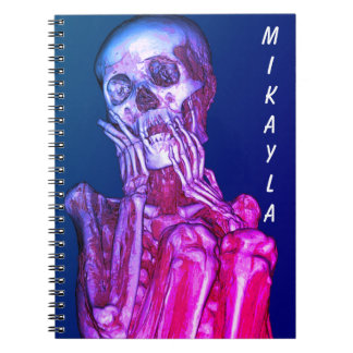 Personalized Pink Skeleton Radiography Spiral Note Books