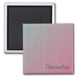 Personalized Pink to Blue Gradient Magnet