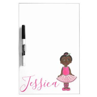 Personalized Pink Tutu Ballet Dancer Ballerina Dry Erase Board