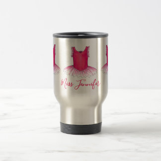 Personalized Pink Tutu Dance Teacher Ballet Dancer Travel Mug