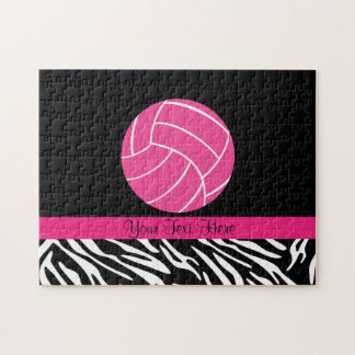 Personalized Pink Volleyball Puzzle
