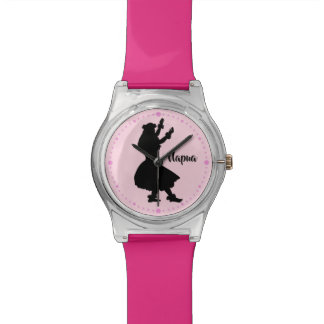 Personalized Pink Watch Hawaiian Hula Girl Dancer