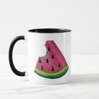 Personalized Pink Watermelon Juicy Fruit Picnic Mug