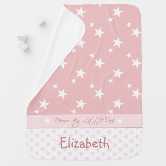 Personalized Pink with stars baby Baby Blanket