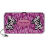 Personalized Pink Zebras & Animal Print Speaker
