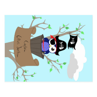 Personalized Pirate Nursery Design Postcard