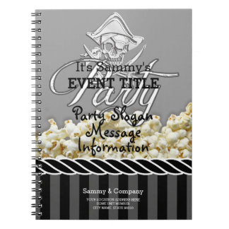 Personalized Pirate Party Spiral Notebooks