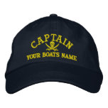 Personalized pirate sailing captains embroidered hats