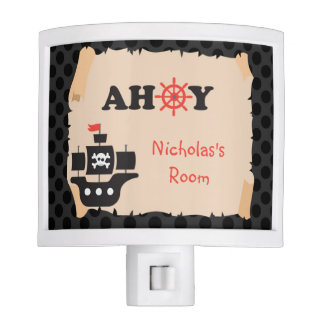 Personalized Pirate Ship Ahoy Night Light