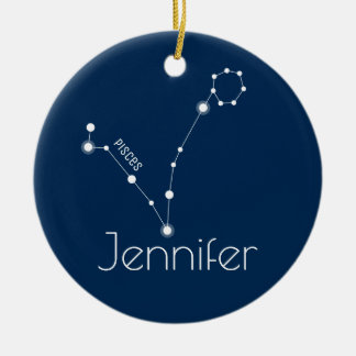Personalized Pisces Constellation Ornament