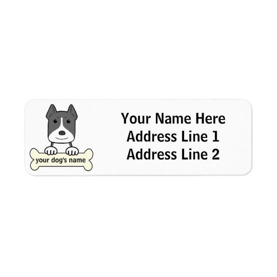 Personalized Pitbull Return Address Label
