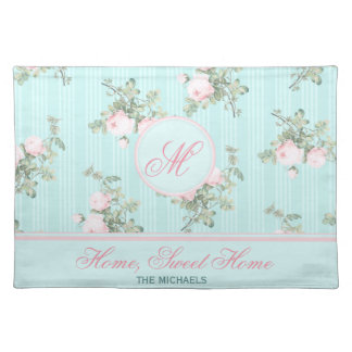 Personalized place mats shabby chic family gift
