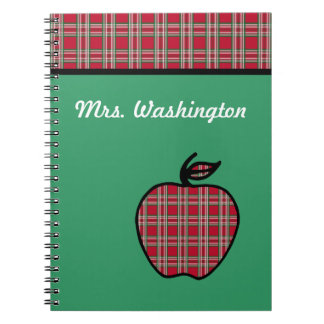 Personalized Plaid Apple Notebook